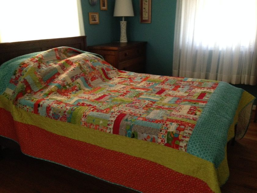 Getting ready to pack up this up for my daughter. This quilt dwarfed my full size bed!!