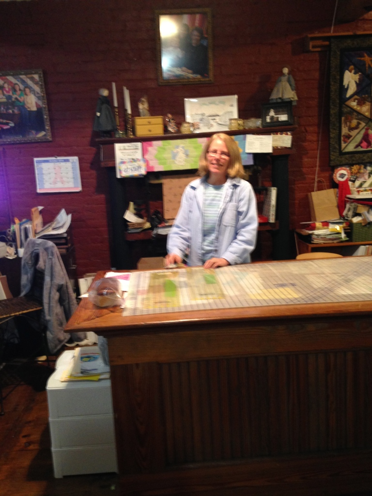 Diana, shop helper, AND an extraordinary quilter!!