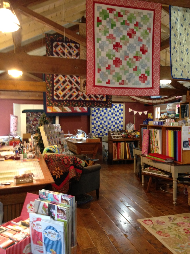 Quilts galore, and fabric!